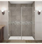 Aston Nautis Completely Frameless Hinged Shower Door