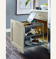 Diamond Base Bin Tray Pullout Cabinet