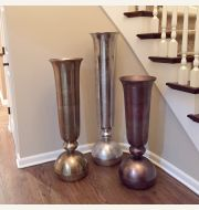 Metal Floor Vases