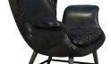 40862 Tudor Single Chair in Black Leather