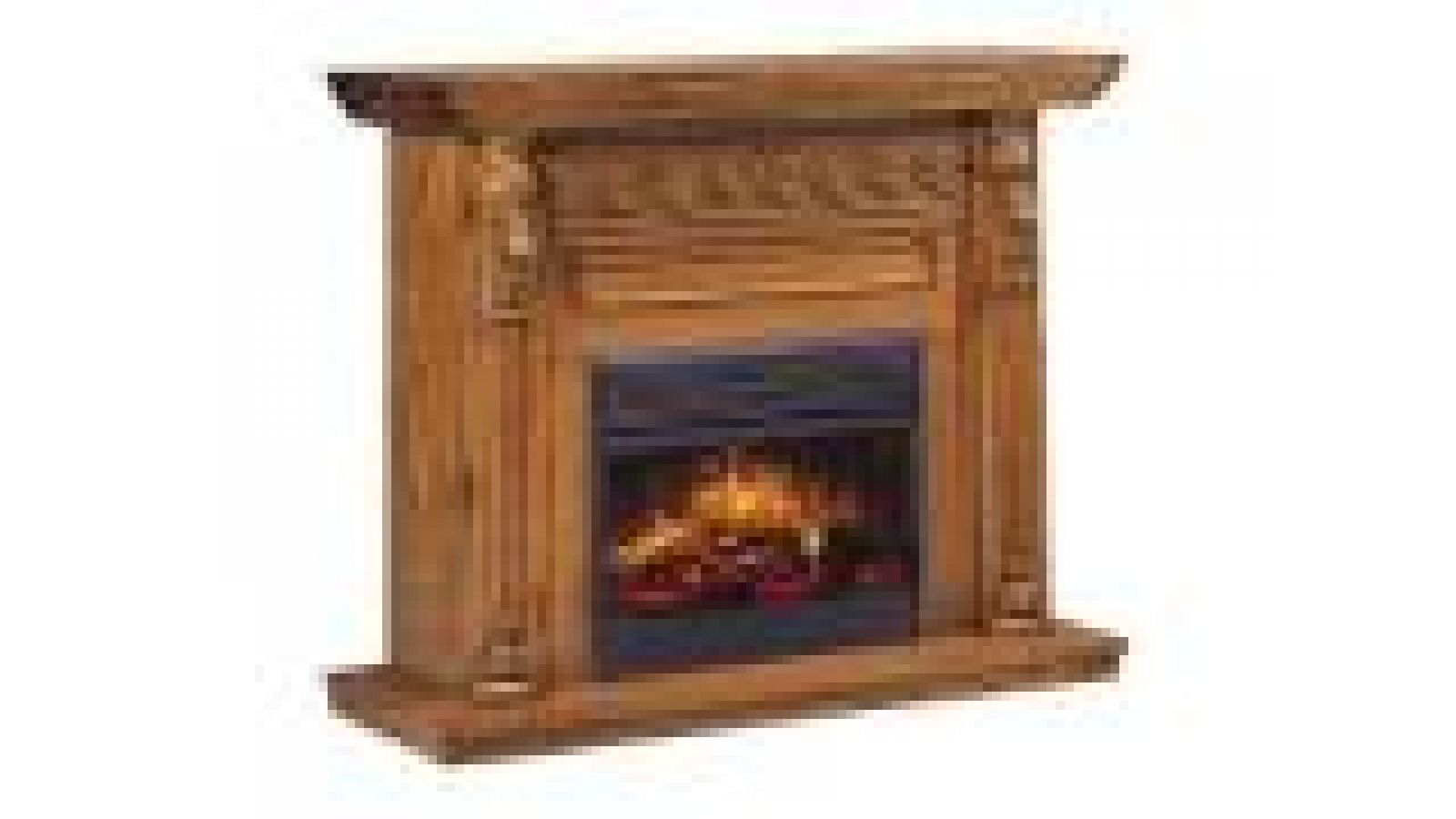 Lion's Head Oak Electric Fireplace