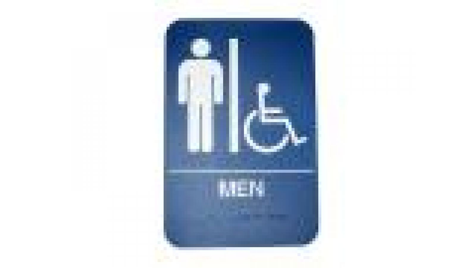 Don-Jo Men's Restroom and Symbol of Accessibility Sign