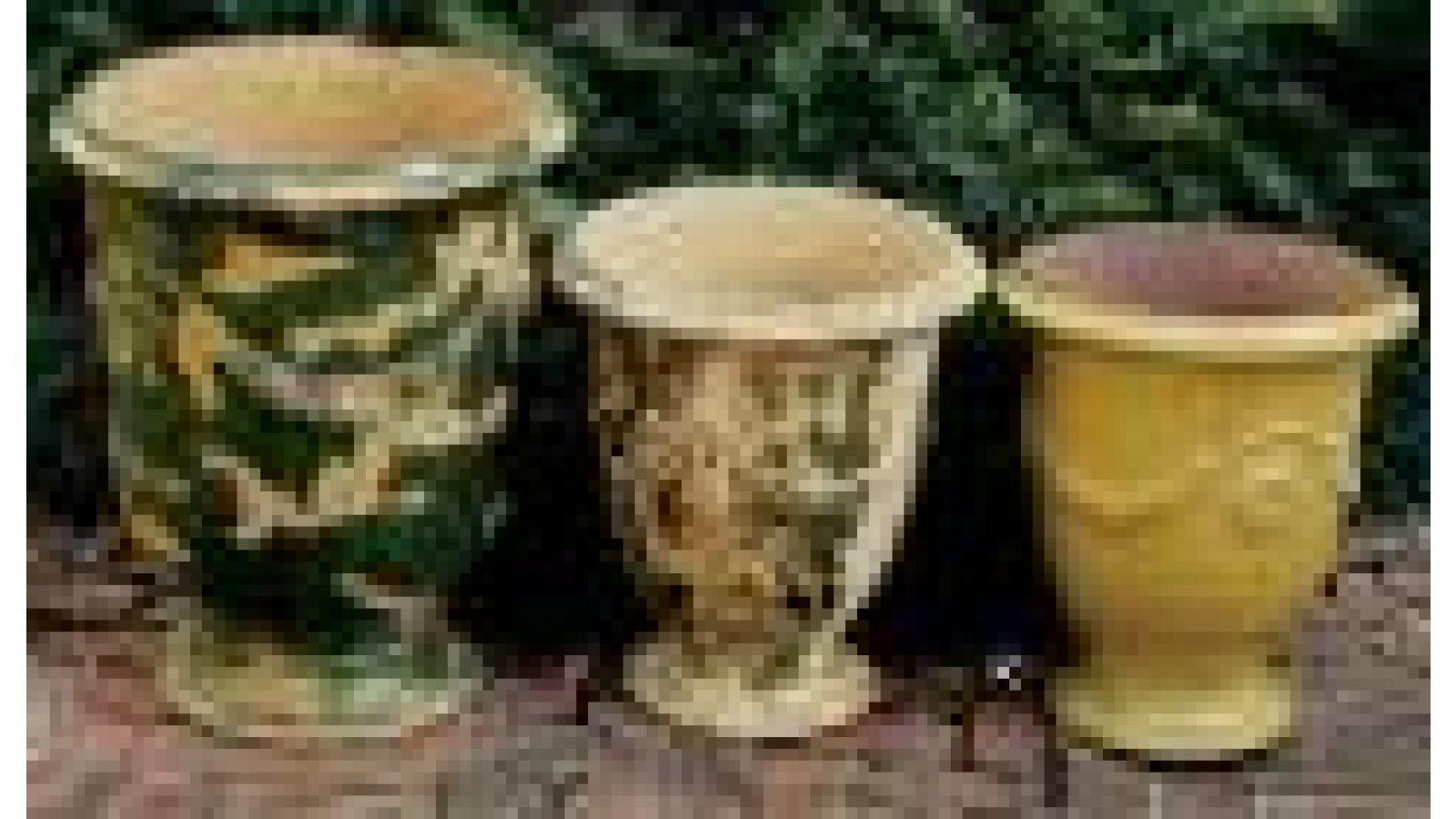 Antiqued Anduze Pots