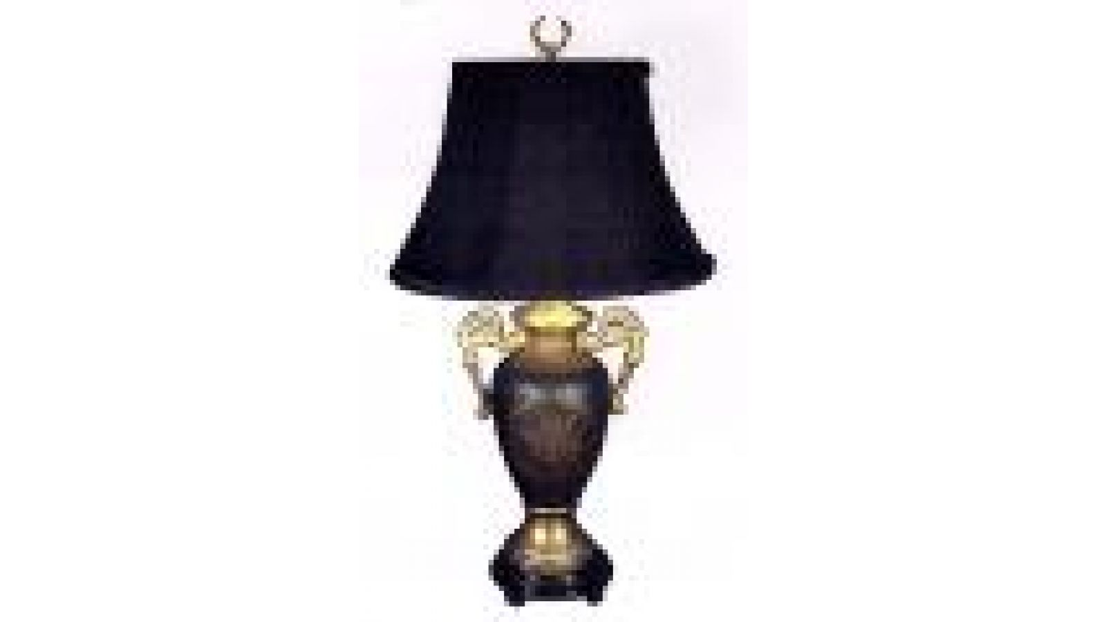 Mfg #: L-8116 LAMP GREEN AND GOLD WITH HANDLES