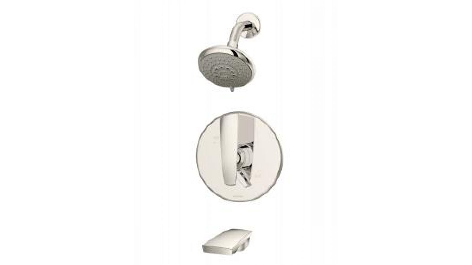 Naru tub/shower in polished nickel