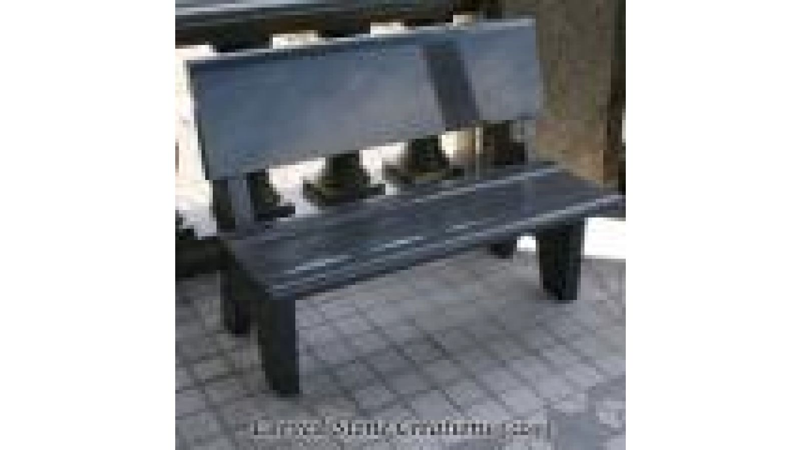 BEN-114, Contoured Park Style Granite Bench W/ Back