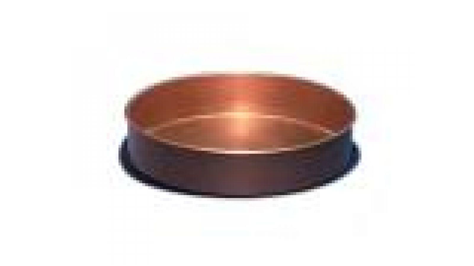 4  Copper Coaster, plain wall