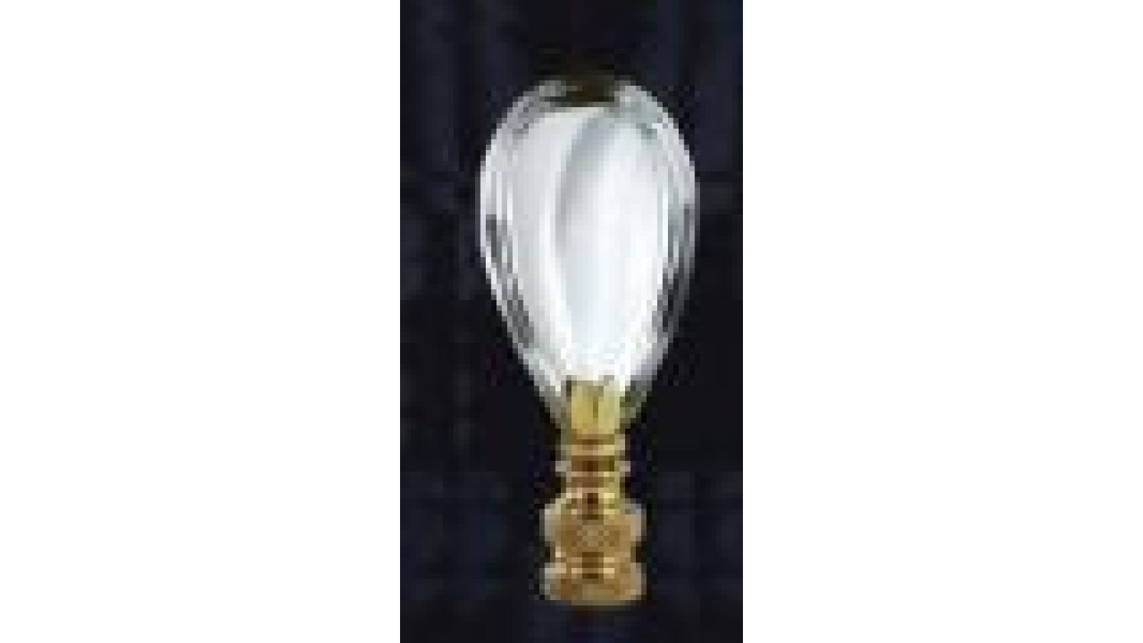 half pear table lamp finial