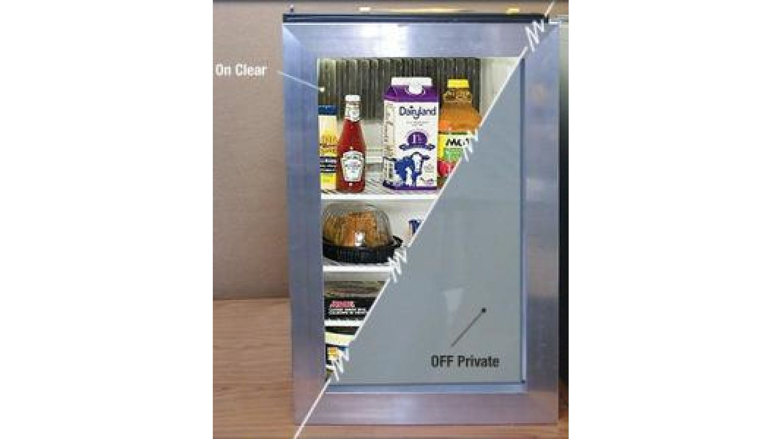 Switchable Privacy Glass - Refrigerator
