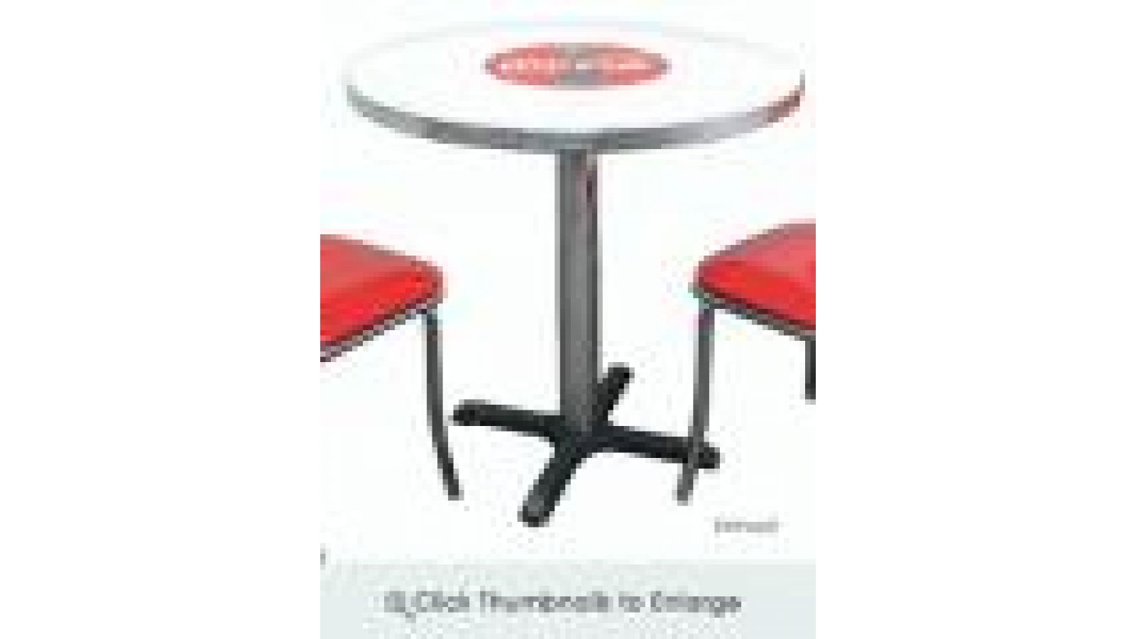 Coke Red Disc Icon Tables