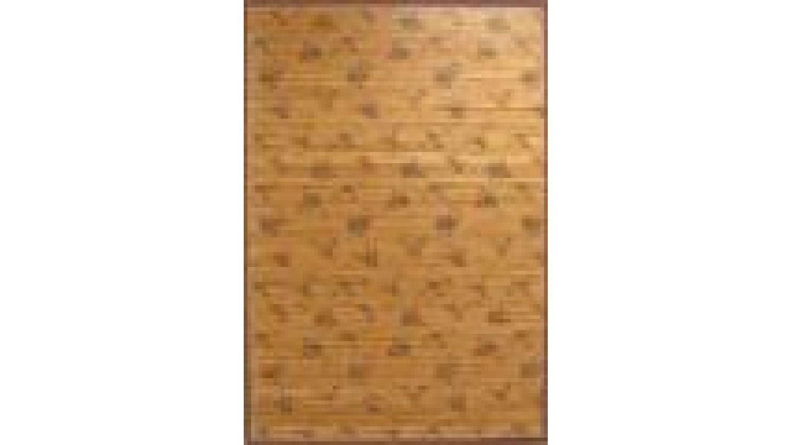Traditional Bamboo Area Rugs - Silk-Screened - Chinese Roses
