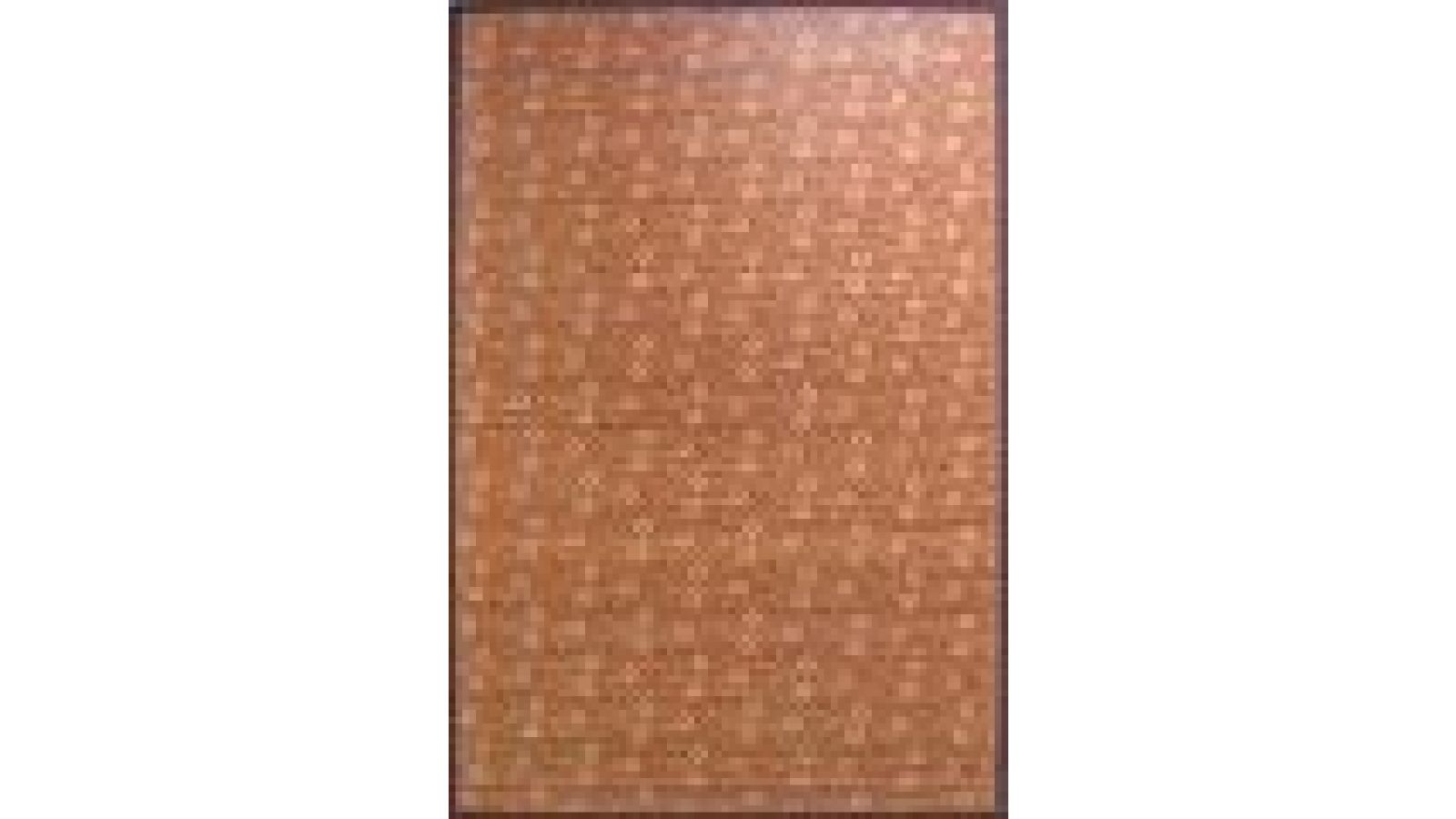 Traditional Bamboo Area Rugs - Silk-Screened - Daisies