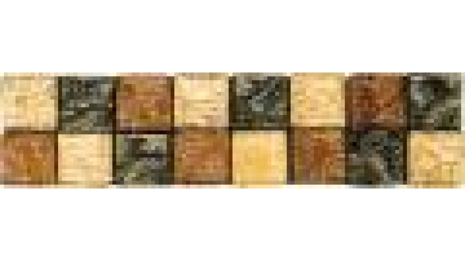 VG133 Citrine/Topaz/Bronze Mosaic Liner Bar