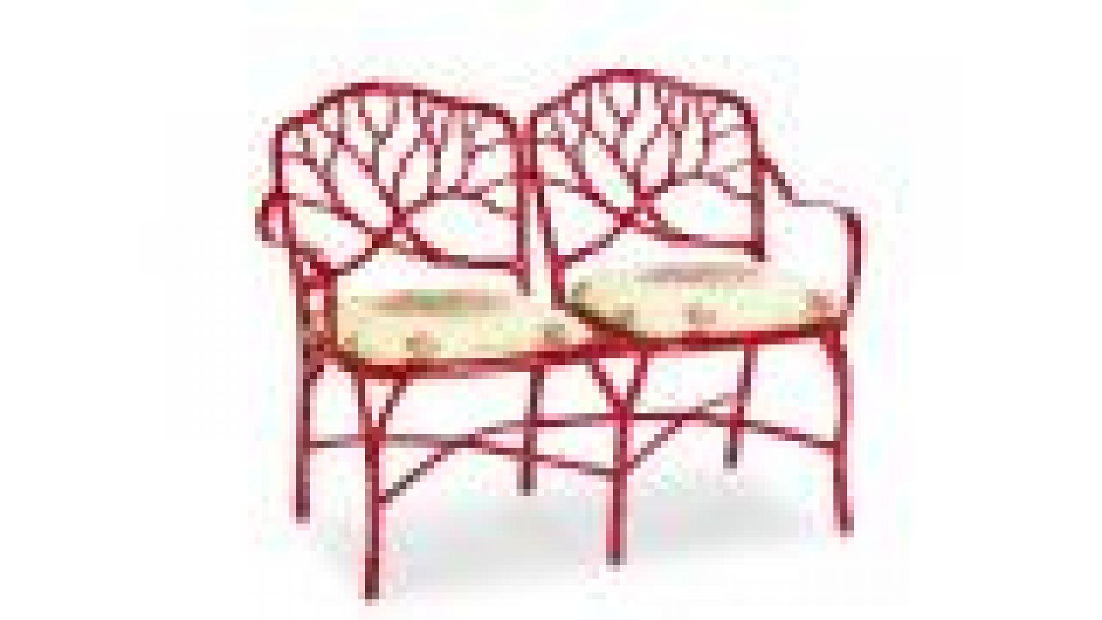 Carmel Red Settee