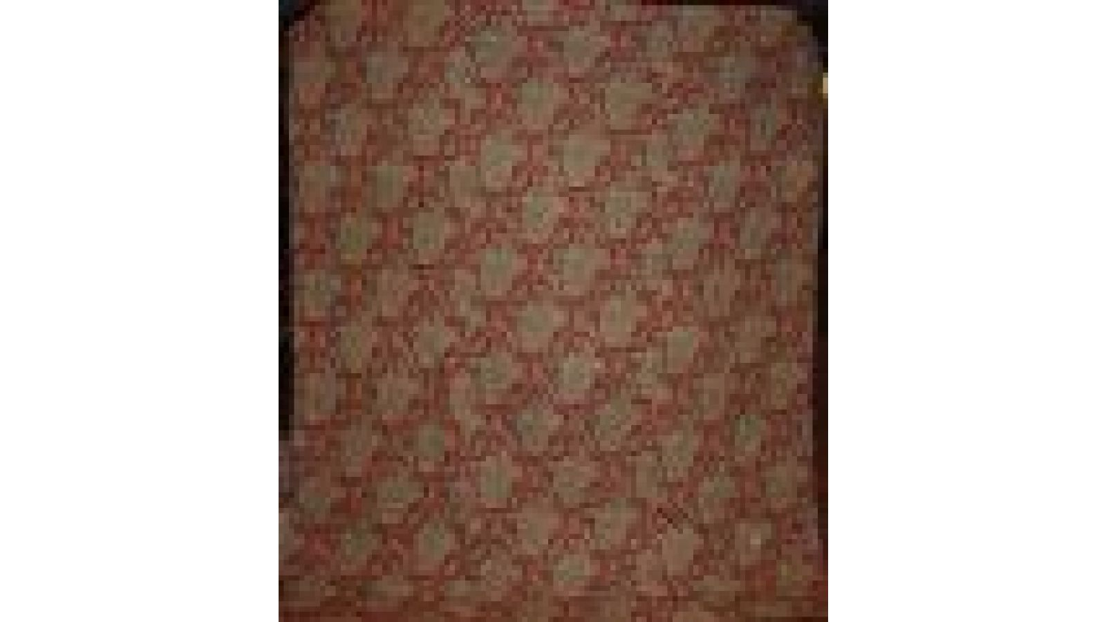 RED PAISLEY WHOLE CLOTH QUILT