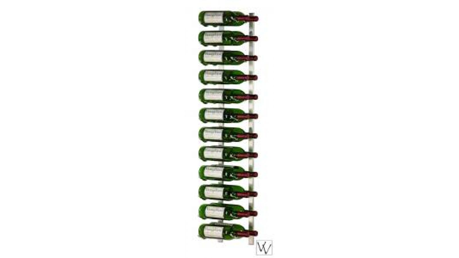 VintageView 24 Bottle Wall Mounted Wine Rack