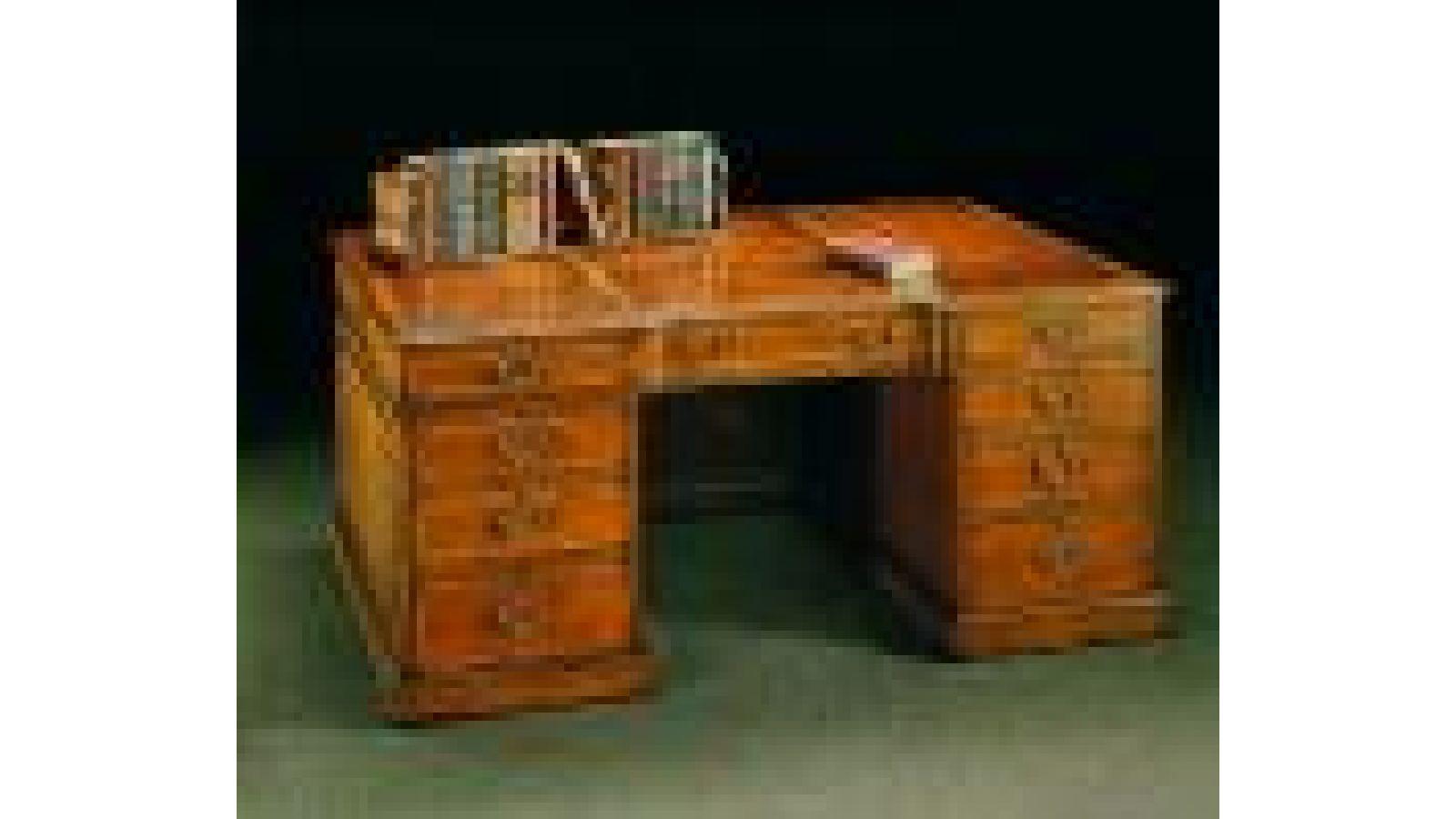 2241 - Georgian-style mahogany partner's desk