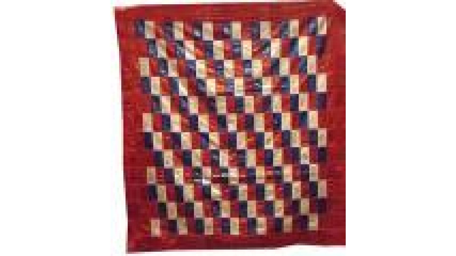 PRIZE RIBBONS PIECED QUILT