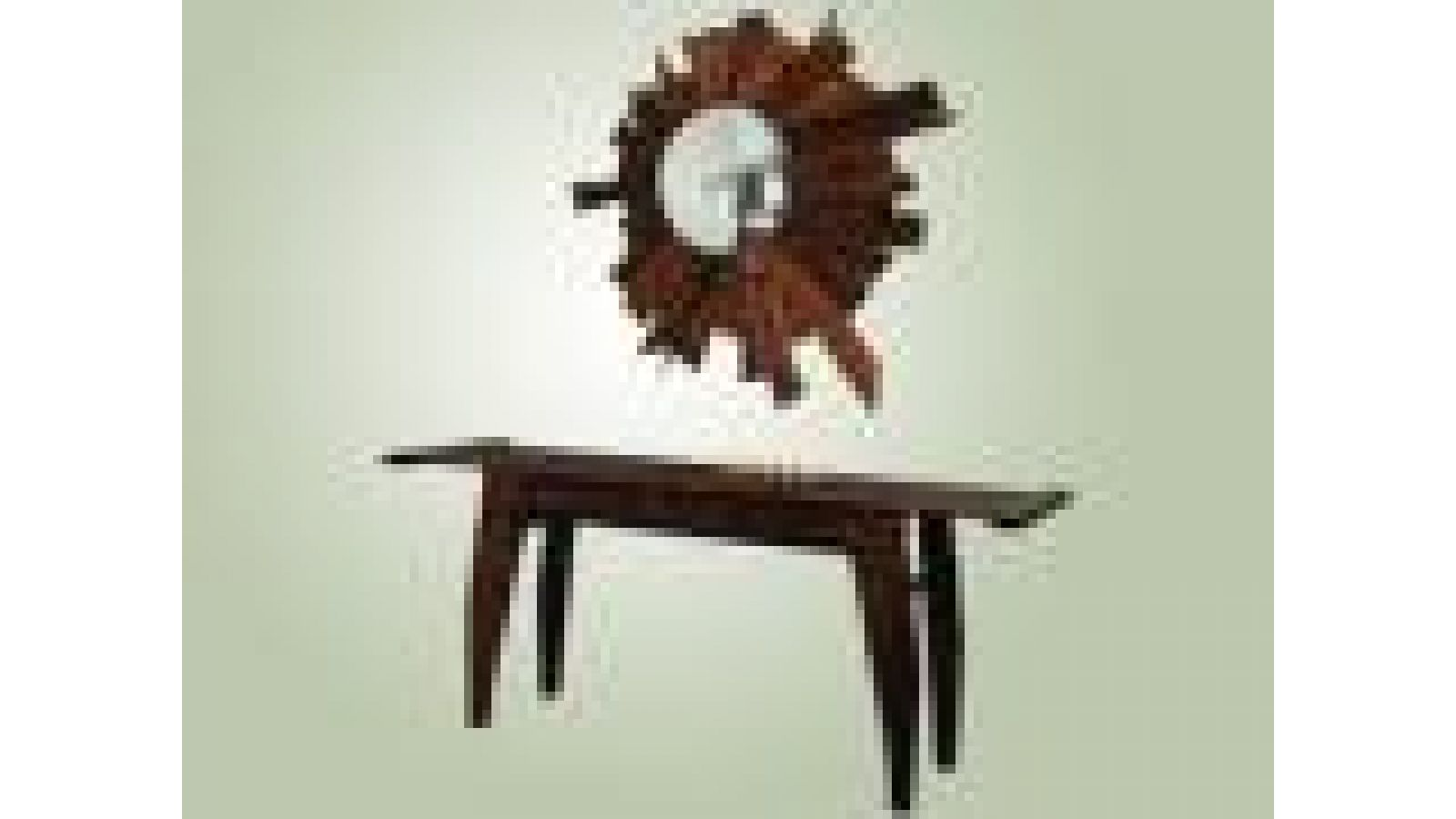 salvage console table and mirror