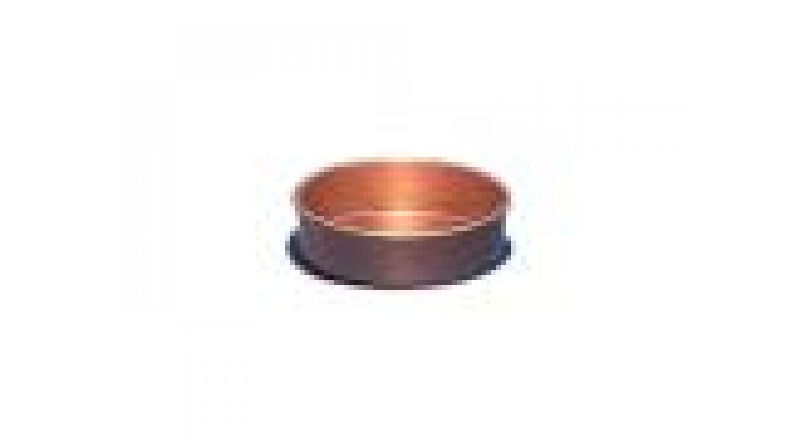 2  Copper Coaster, plain wall