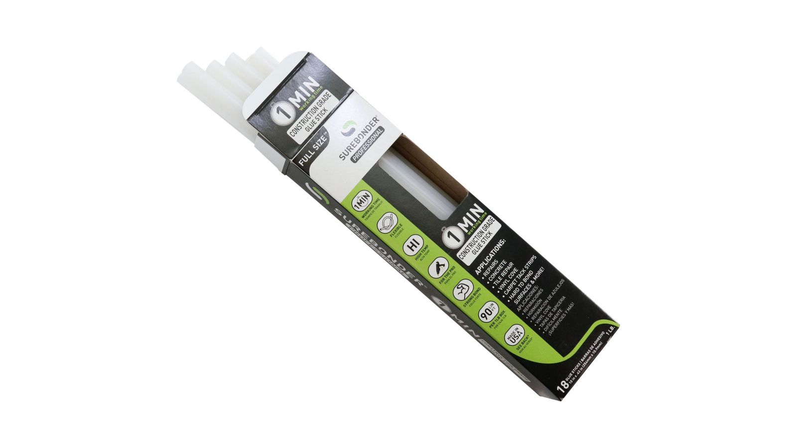1 Minute Construction Grade Hot Glue Sticks