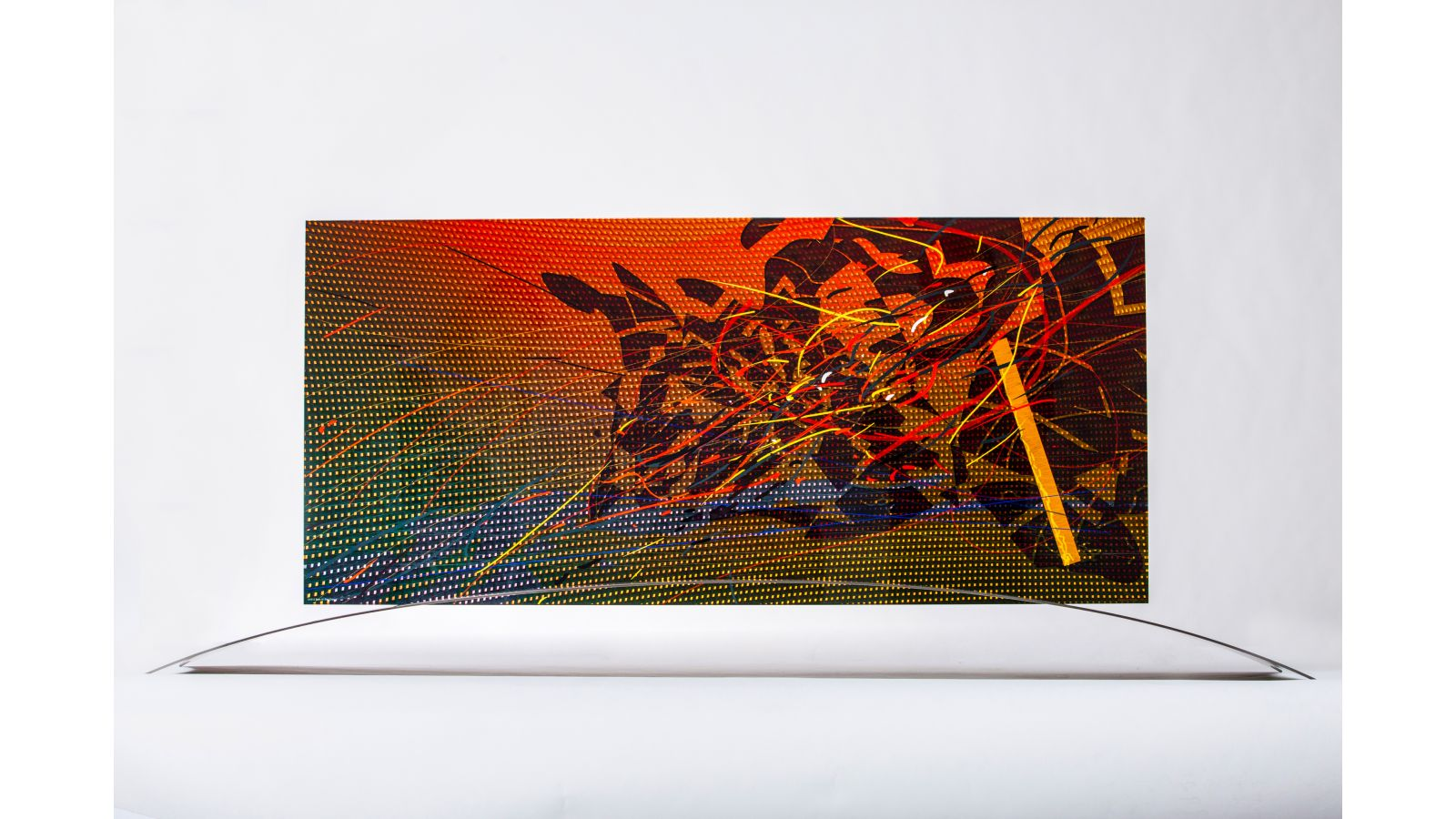 Art Glass Panel with Stand