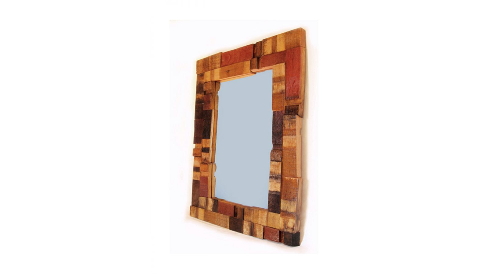 Mirrage, Large Wall Mirror recycled oak wine barrel staves