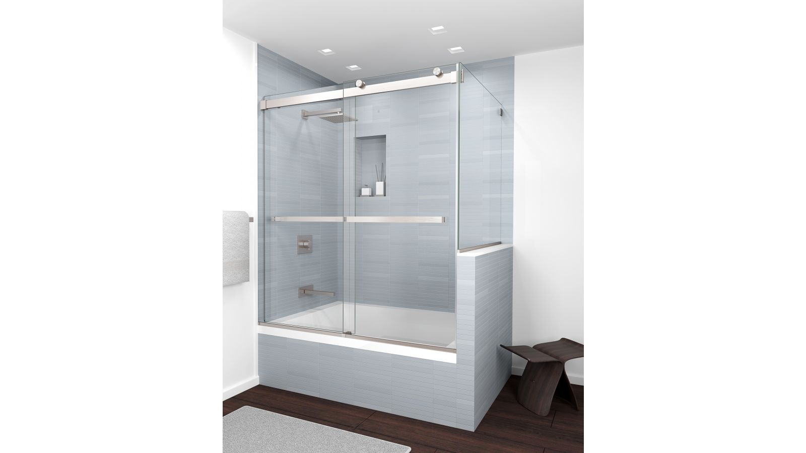 Equalis Series™ Frameless By-Pass Shower Doors