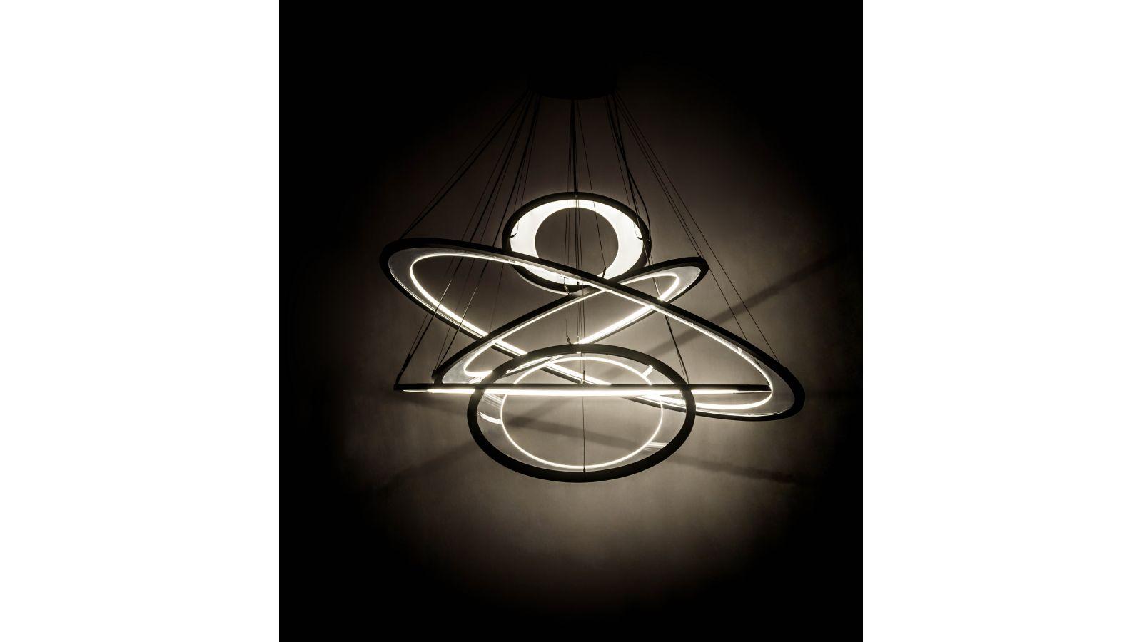 Anillo Ellipse 5 Light cascading pendant