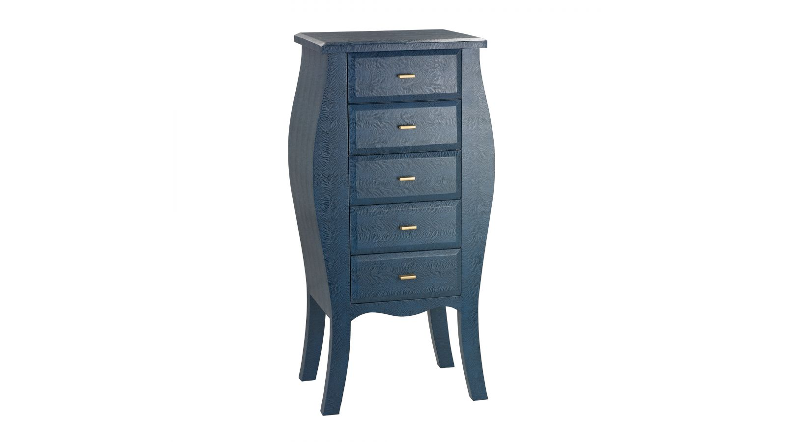 180-004 - Bowed Shagreen Chest in Navy