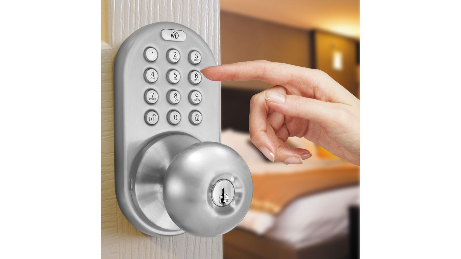 Keyless Entry Knob Door Lock with Electronic Digital Keypad