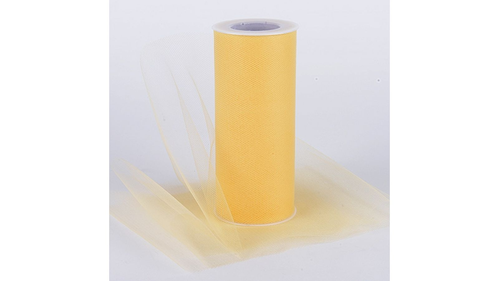 Gold 6 Inch Tulle Roll 25 Yards