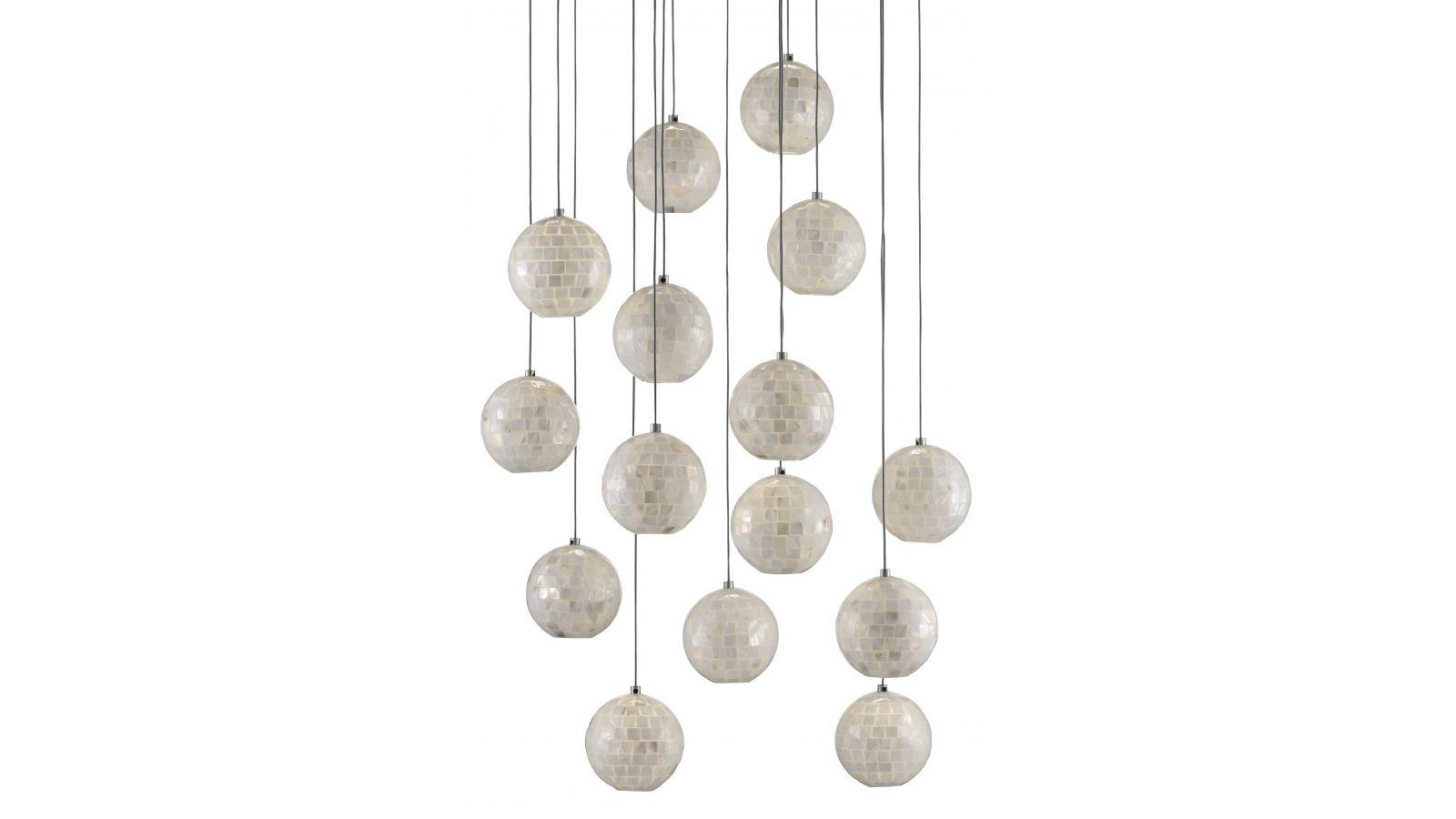 Finhorn Round 15-Light Multi Drop Pendant