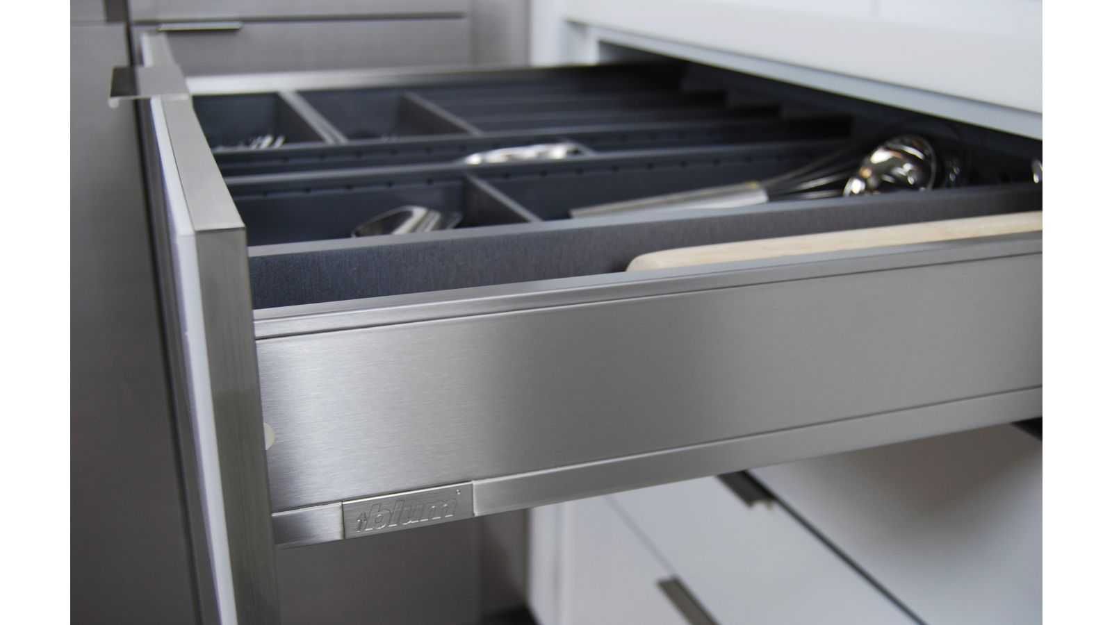 Stainless Steel Cabinet Drawers and Roll-Out Storage