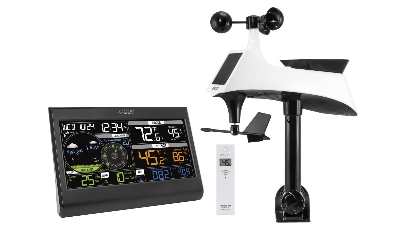 Professional Weather Station with Lightning Detector