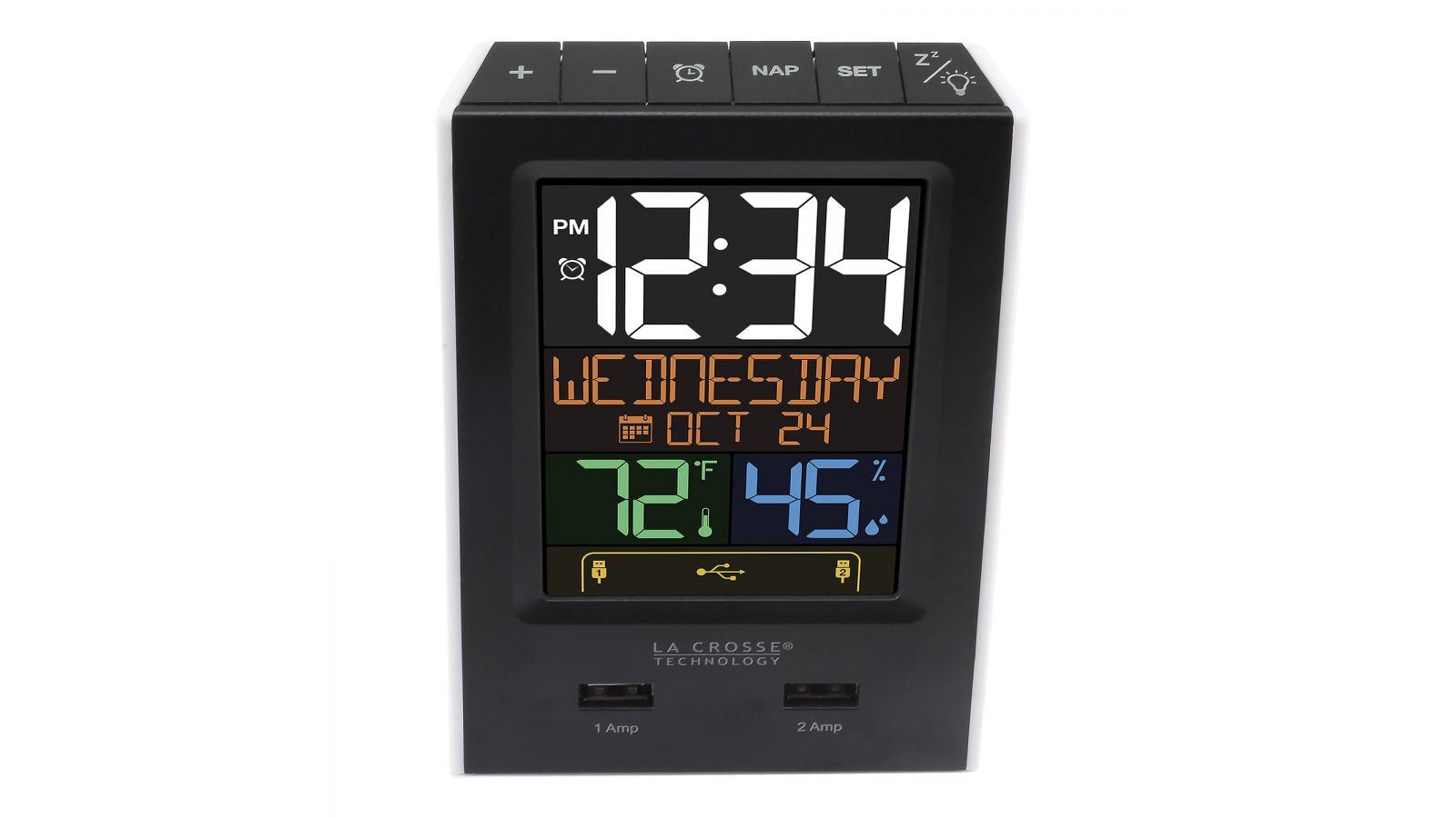 Alarm Clock Charging Station with 2 USB Charging Ports