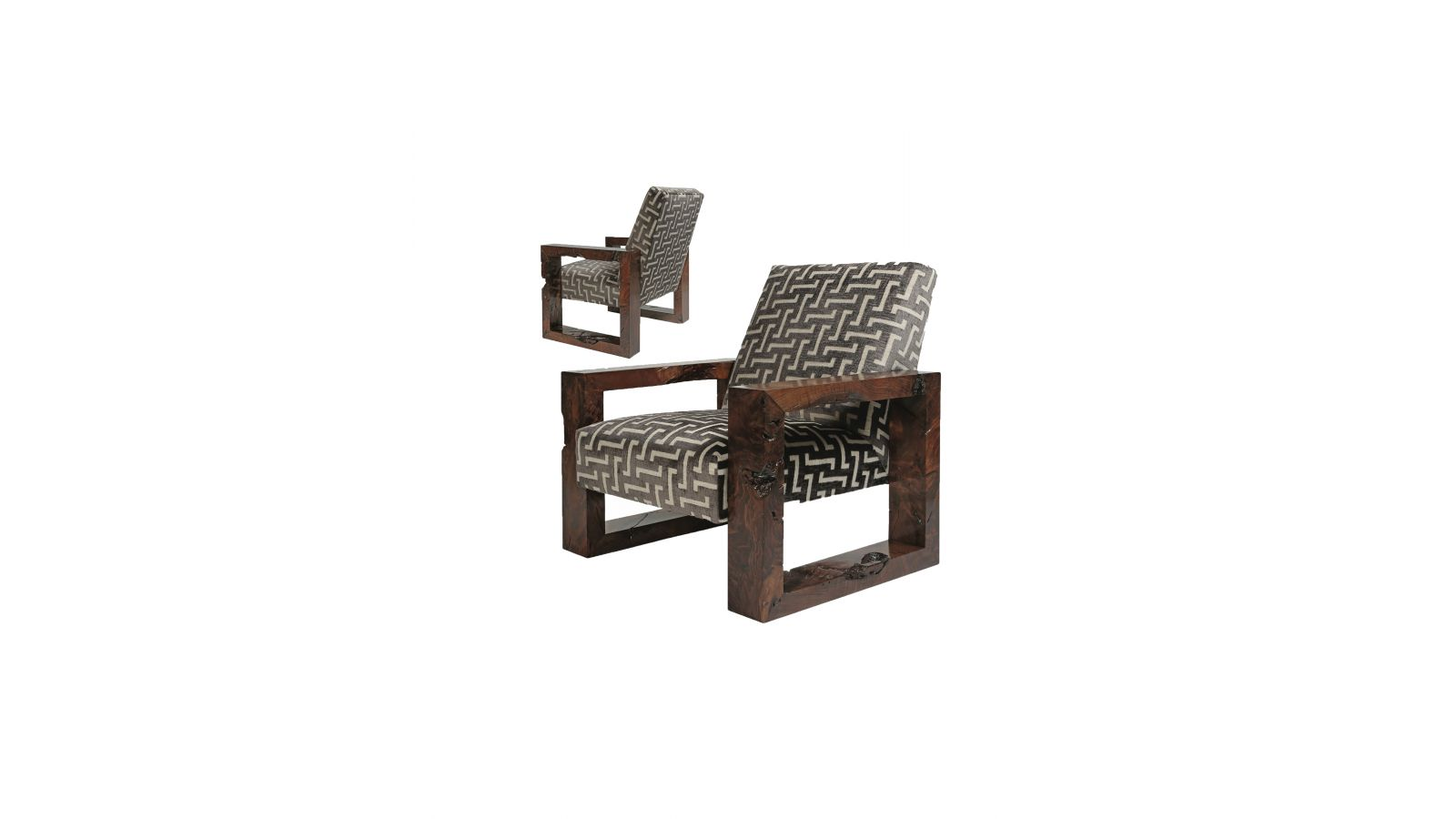 Madison Walnut Lounge Chair