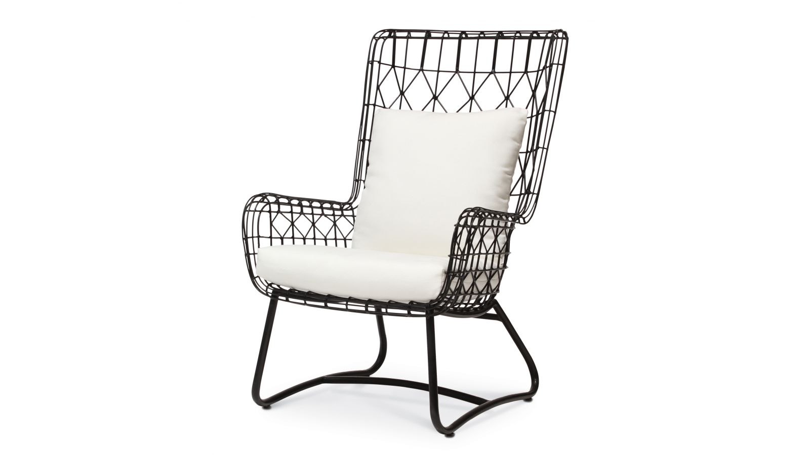 Capri Outdoor Wing Chair, Black