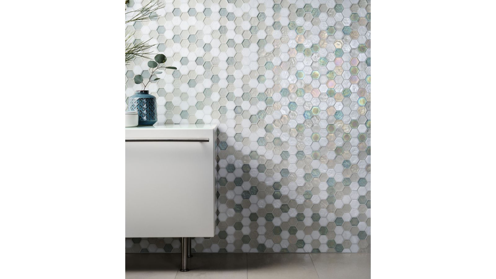Oceanside Glasstile - New Pattern Muse Collection - Hexagon