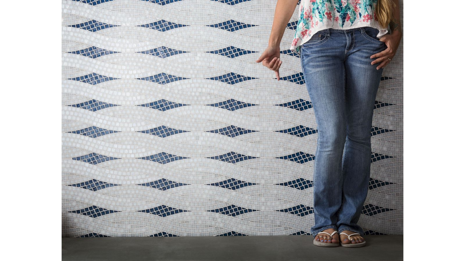 Oceanside Glasstile - New Pattern Muse Collection - Braid