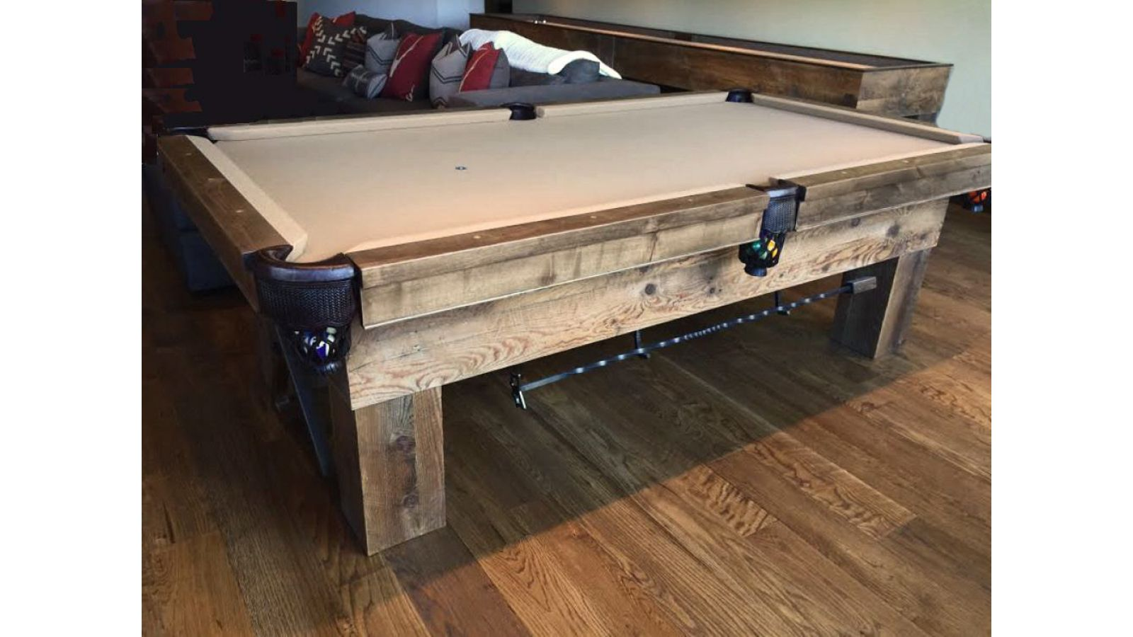 Custom Barnwood Billiard Table