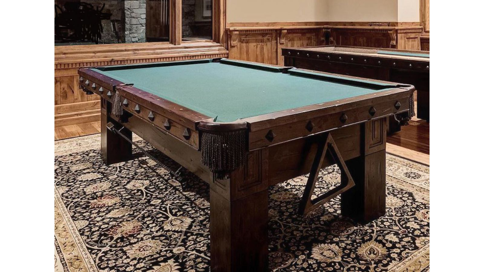 Custom Billiard Table w/Accessories