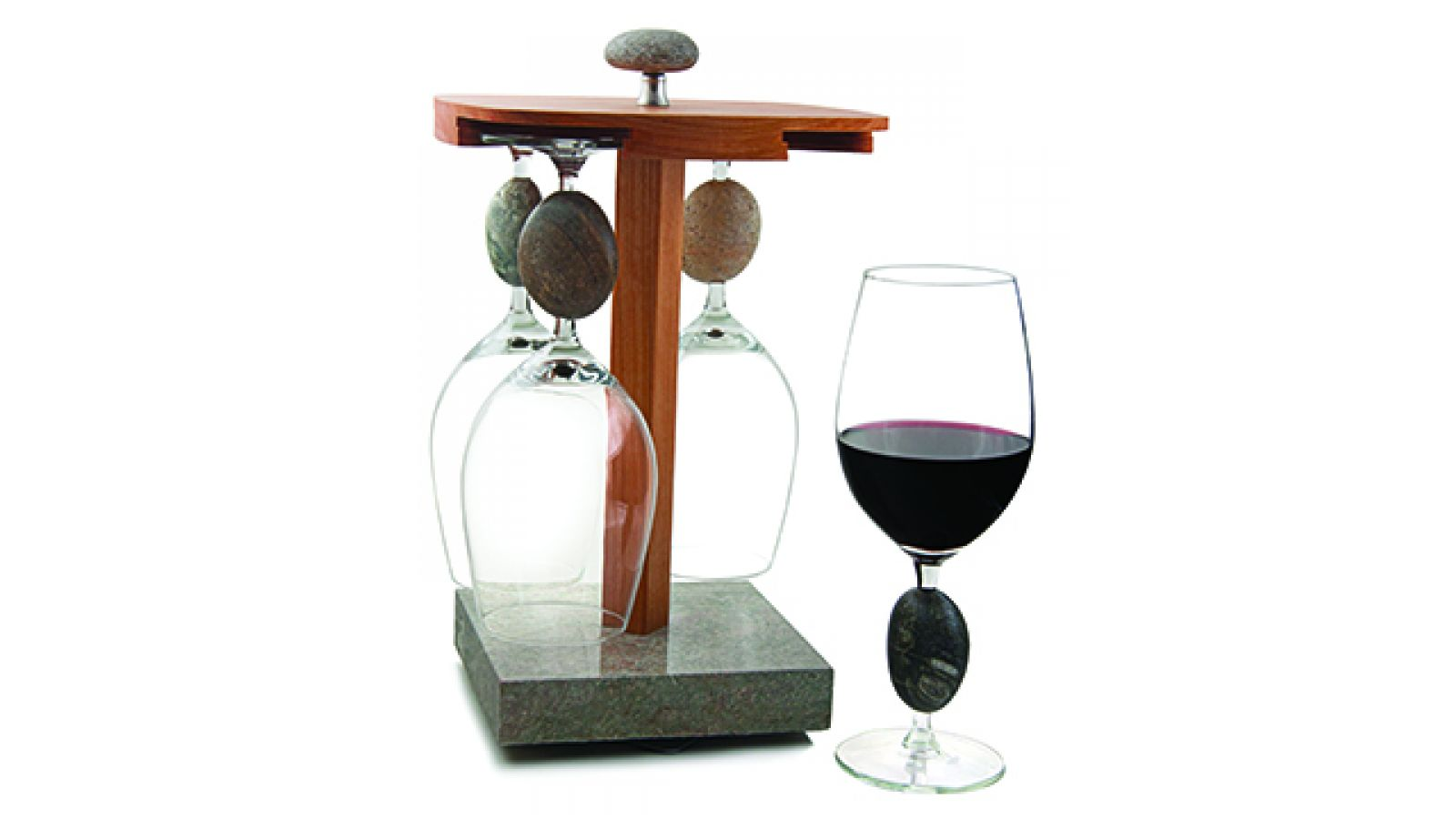 Stone Wine Glasses & Pirouette