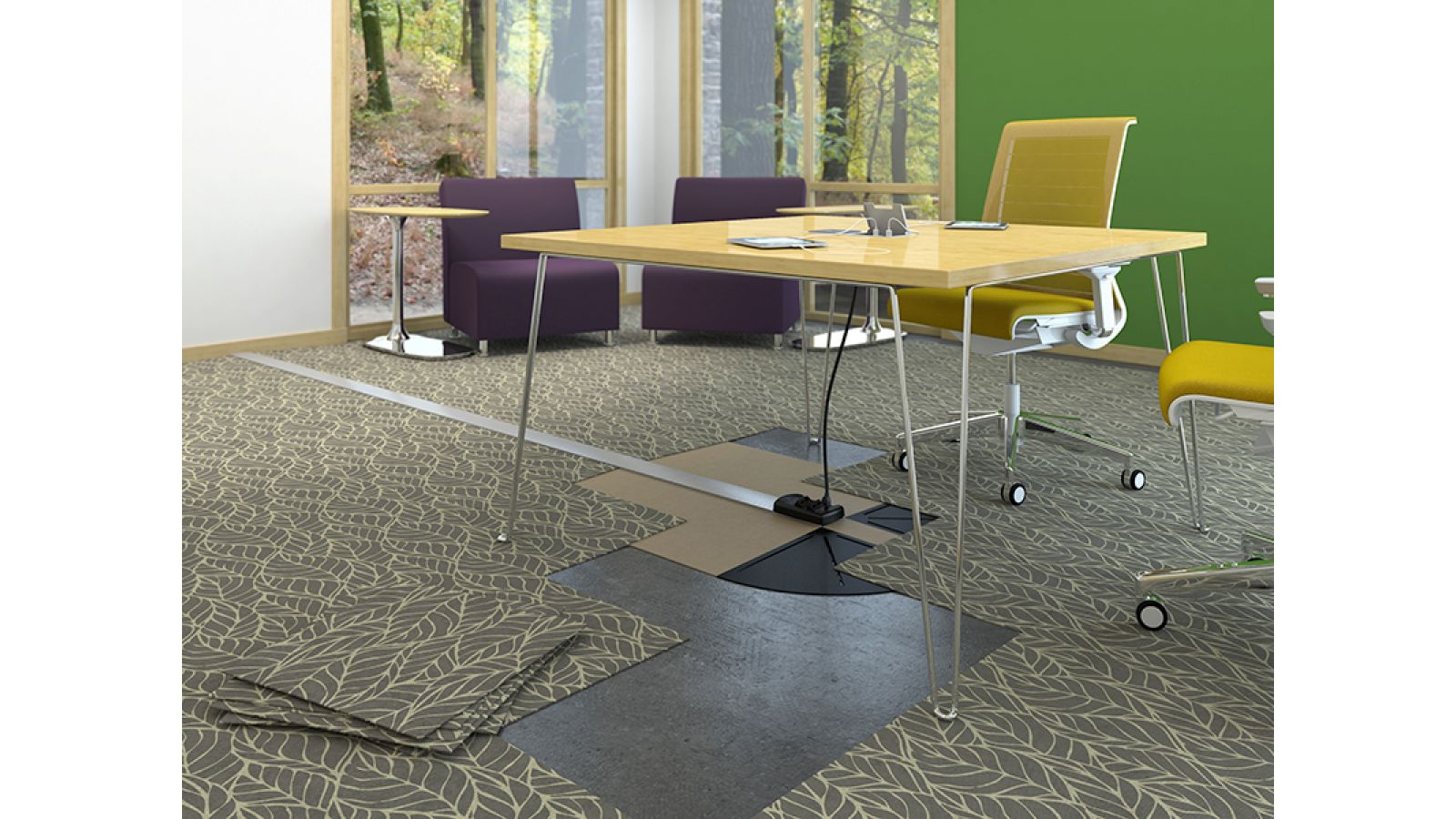 Connectrac In-Carpet and On-Floor Wireways