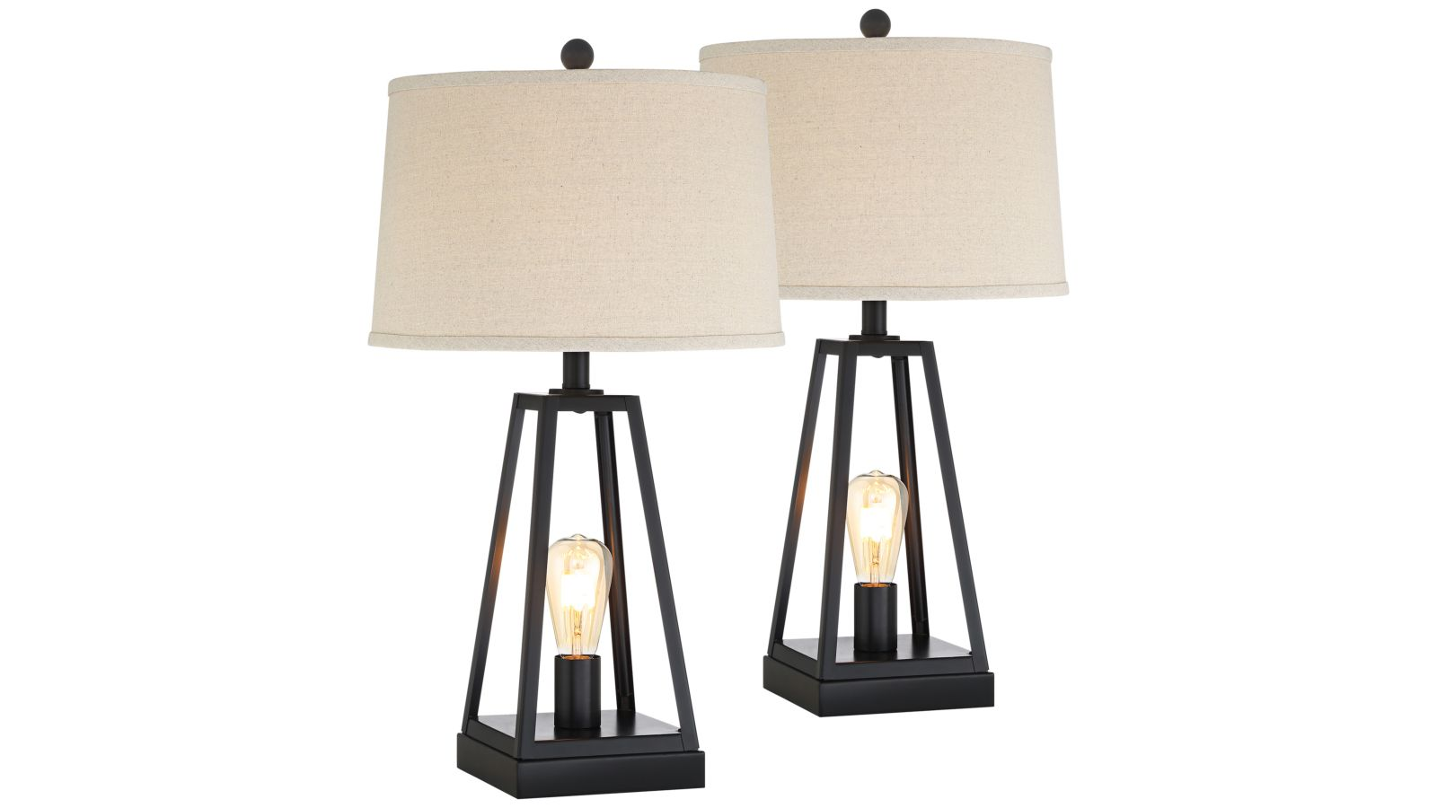 Kacey Set of 2 USB Table Lamps with Night Lights