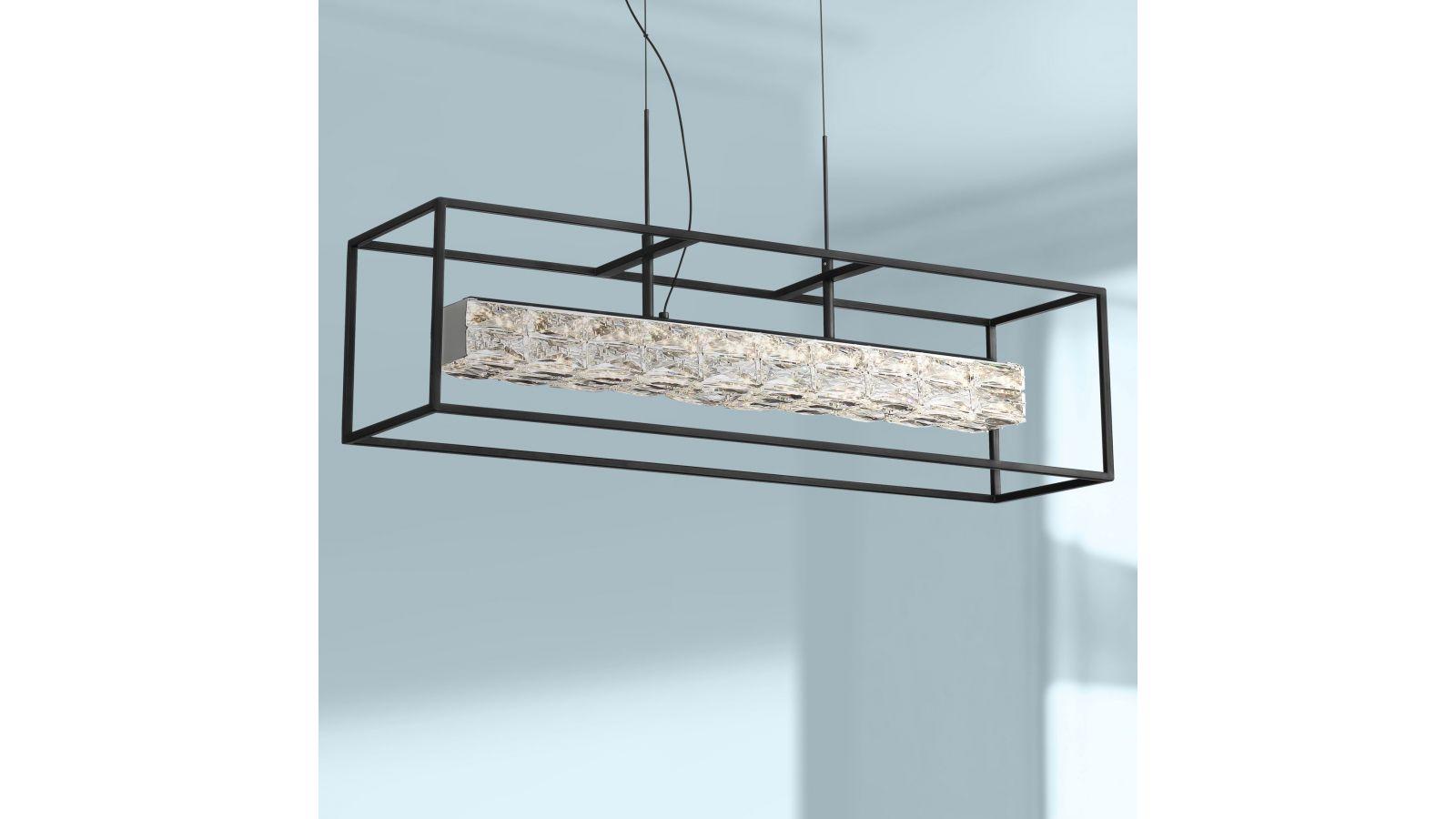 Roxbury Black LED Kitchen Island Light Pendant