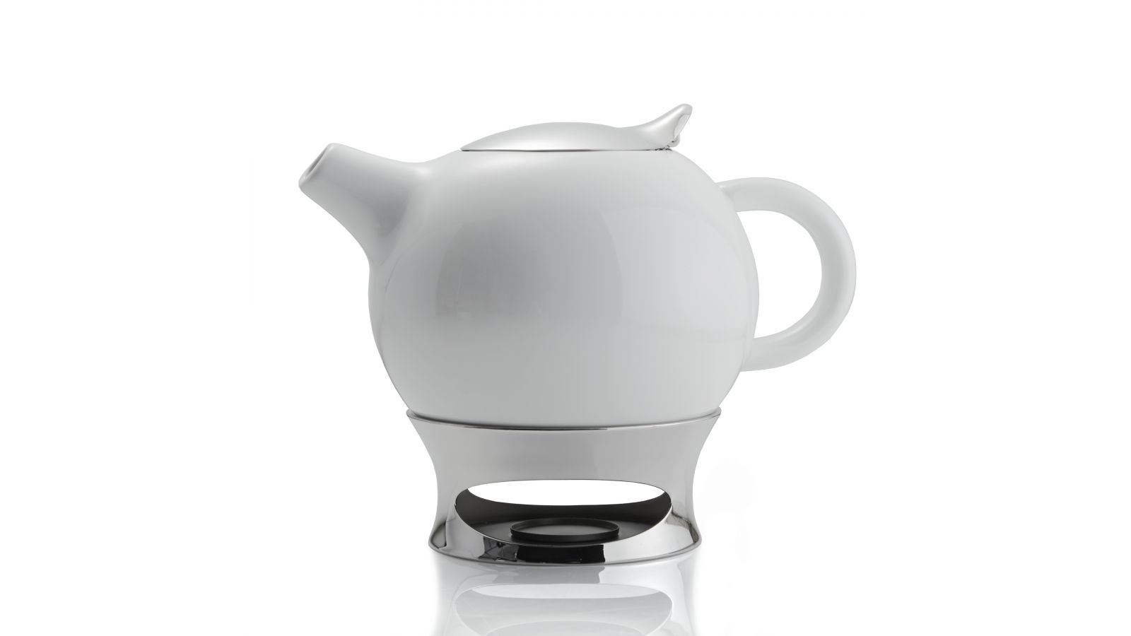 Bulbo Teapot w/ Infuser and Warming Base