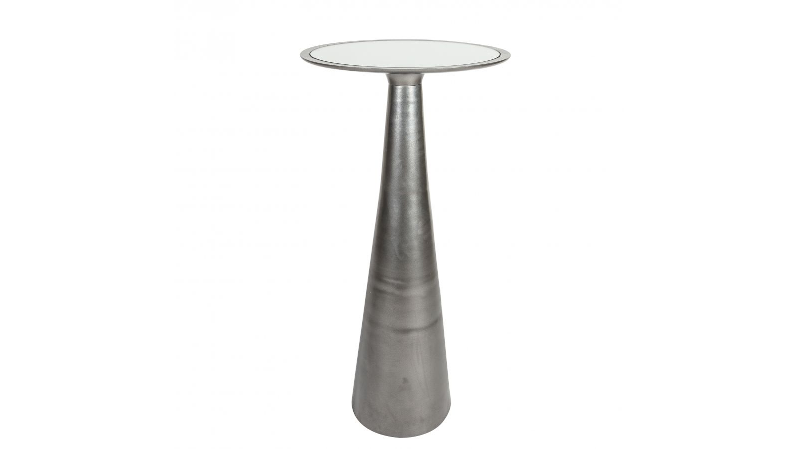 Forma Highboy Table, Antique Silver