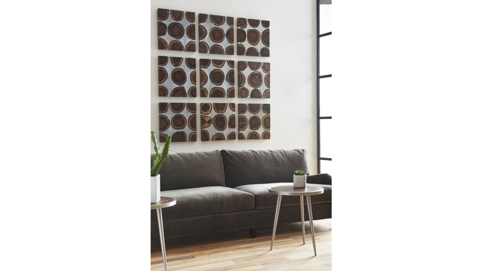 Aluminum and Chamcha Slice Wall Tile