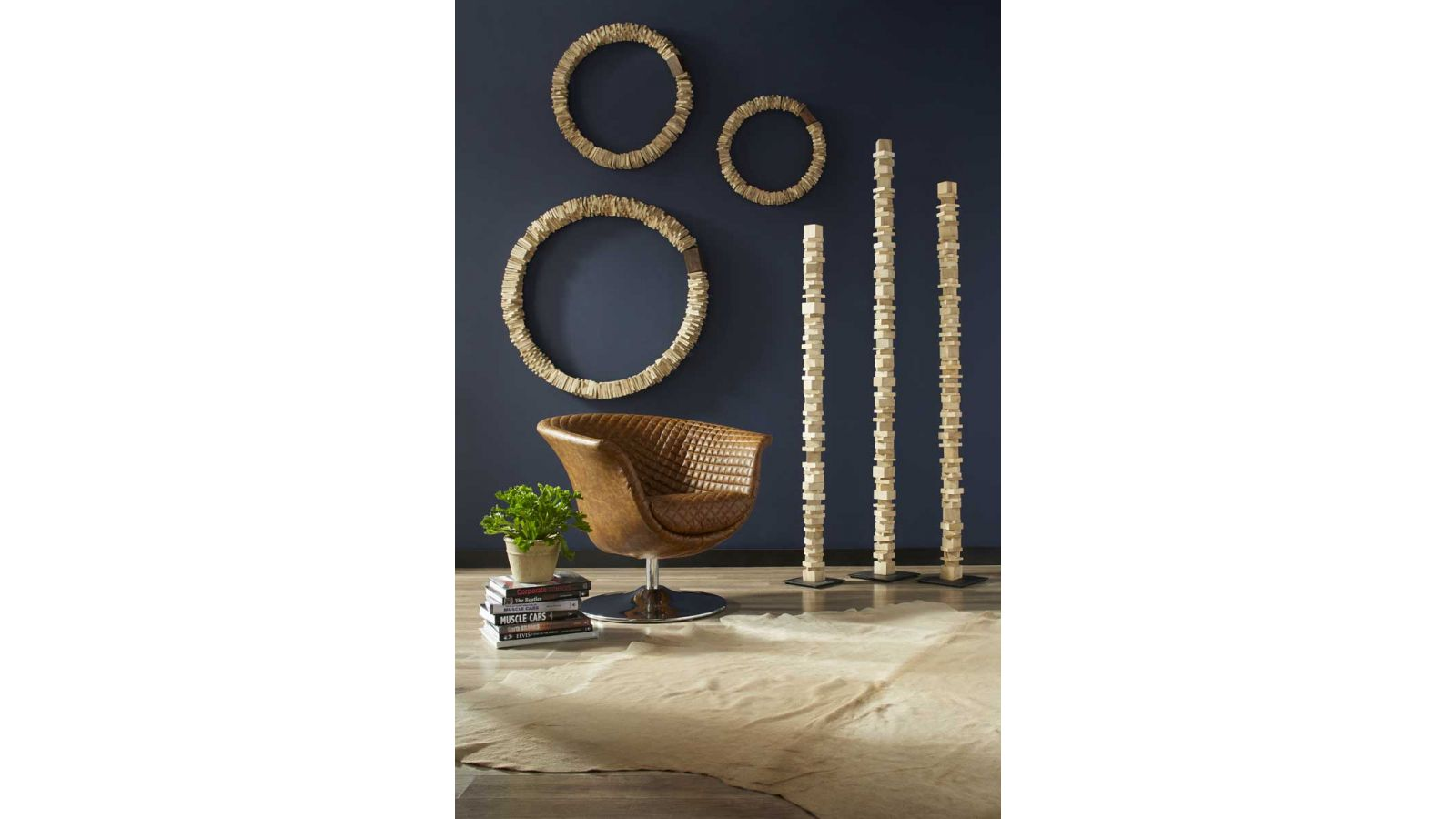 Stacked Wall Rings